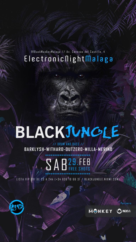 Lee más sobre el artículo 🦍 BlackJungle // SAB.29.FEB