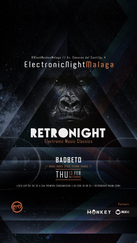 Lee más sobre el artículo 📻 #RetroNightMalaga // THU.13.FEB