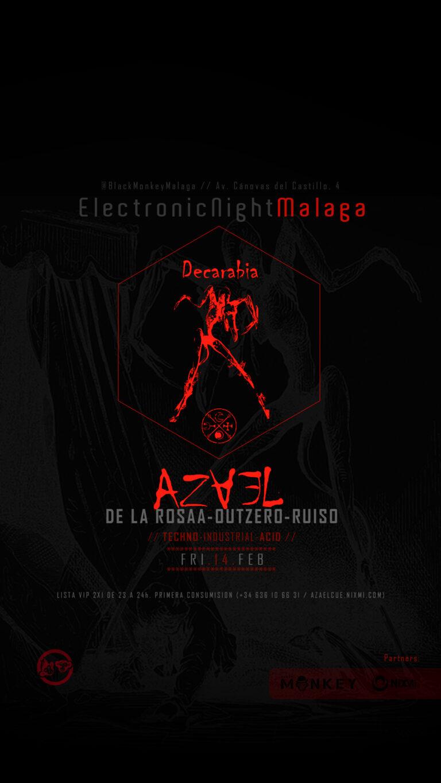 Lee más sobre el artículo 👹 #AzaelCue llega a las #ElectronicNightMalaga // FRI.14.FEB