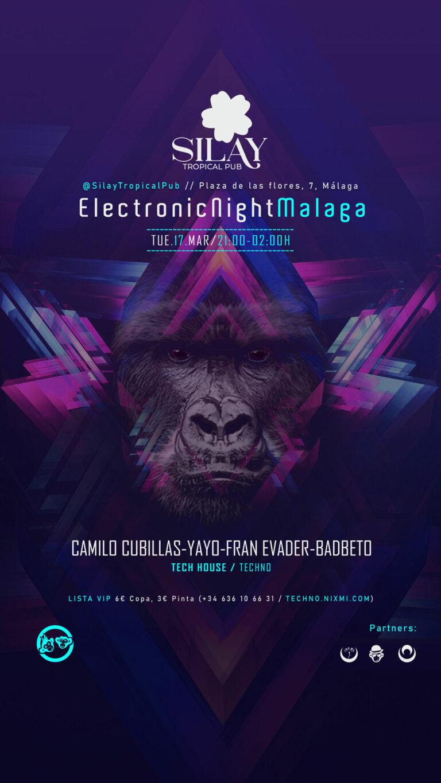 Lee más sobre el artículo Tech House – ElectronicNightMalaga //