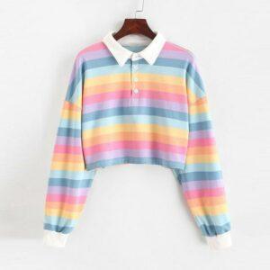Rainbow Polo Sweatshirt @momospiritcom