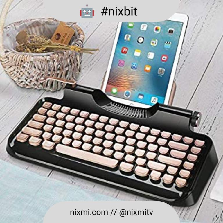Te gusta el estilo vintage mira este teclado