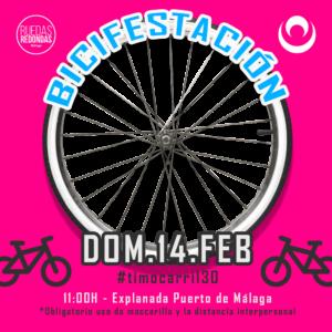 Nixmi Transmitira en Directo la Bicifestacion el 14 de Febrero en Malaga