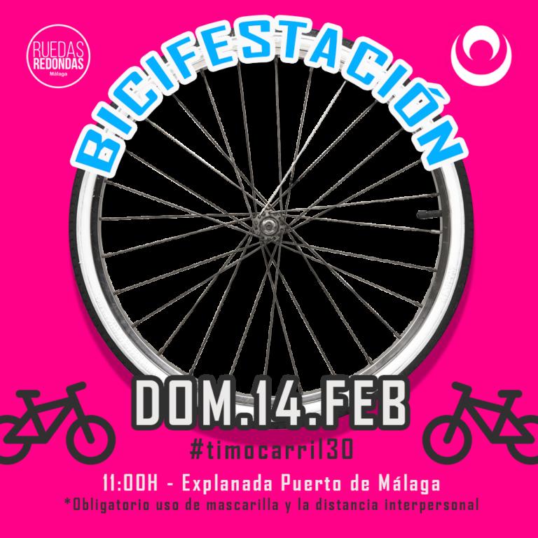 Lee más sobre el artículo Nixmi Transmitira en Directo la Bicifestacion el 14 de Febrero en Malaga