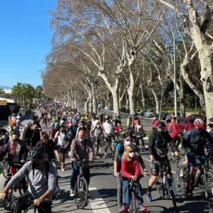 Lee más sobre el artículo Altercado de un conductor de coche a un ciclista justo el dia de la Manifestacion