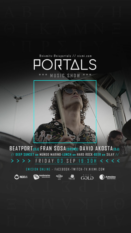 Lee más sobre el artículo Show PORTALS en Mundo Marino el Viernes 03.09.2021