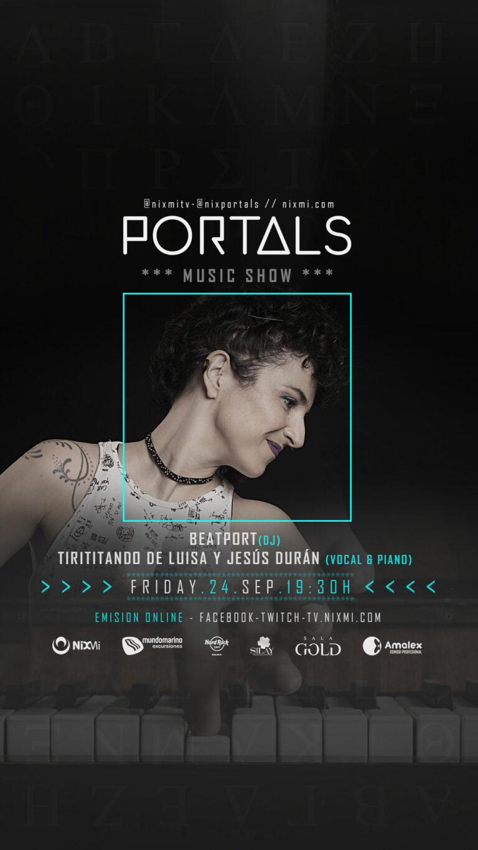 Lee más sobre el artículo Show PORTALS en Mundo Marino el Viernes 24.09.2021